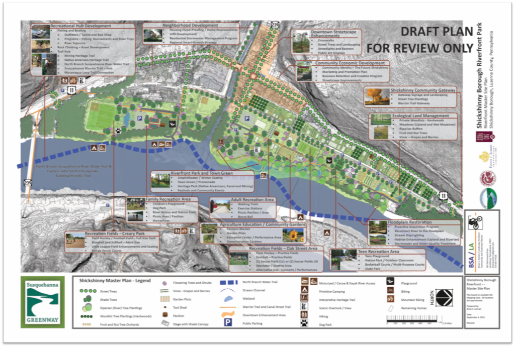 Shickshinny Riverfront Masterplan